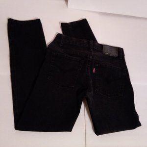 Levi's 510 black skinny jeans sz 27.5 x 26.5 sz 25